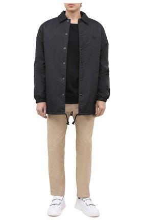 Мужские кожаные кеды perey ACNE STUDIOS белого цвета, арт. BD0111 | Фото 2