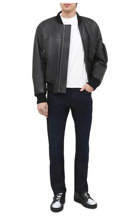 Мужские кожаные кеды frankie GIUSEPPE ZANOTTI DESIGN черного цвета, арт. RU00043/002 | Фото 2