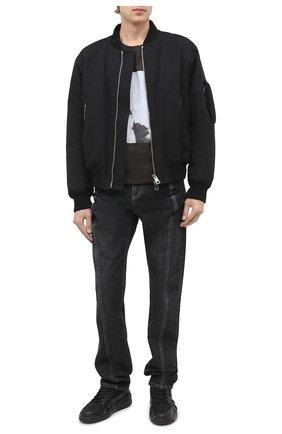 Мужские комбинированные кеды talon GIUSEPPE ZANOTTI DESIGN черного цвета, арт. RU00041/001 | Фото 2