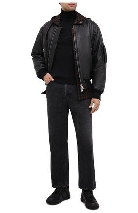 Мужские кожаные кеды blabber GIUSEPPE ZANOTTI DESIGN черного цвета, арт. RU00017/001 | Фото 2