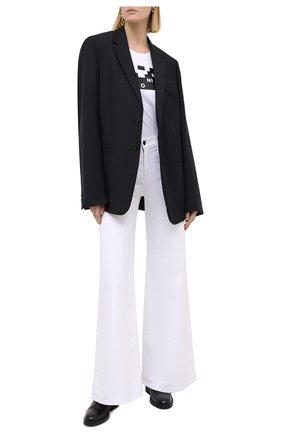 Женская хлопковая футболка EMPORIO ARMANI белого цвета, арт. 6H2T6C/2JQAZ | Фото 2