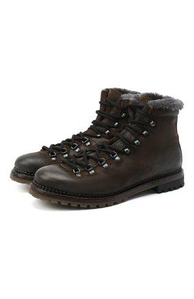 Мужские кожаные ботинки PREMIATA коричневого цвета, арт. 339P/VINZ+F0D M0NT0NE | Фото 1