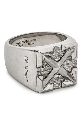 Мужское кольцо OFF-WHITE серебряного цвета, арт. 0M0C017E20MET0017800 | Фото 1