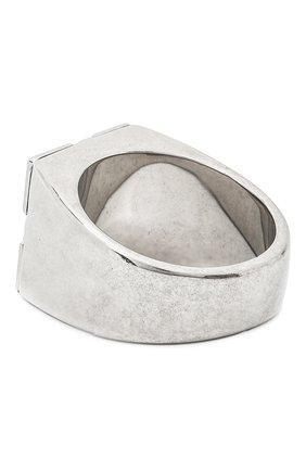 Мужское кольцо OFF-WHITE серебряного цвета, арт. 0M0C017E20MET0017800 | Фото 2