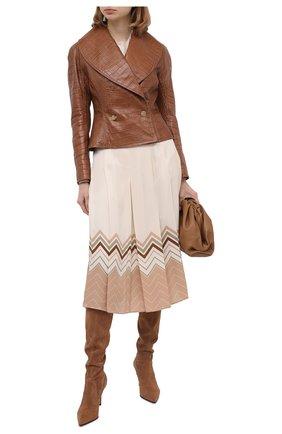 Женская кожаная куртка RALPH LAUREN коричневого цвета, арт. 290815964 | Фото 2