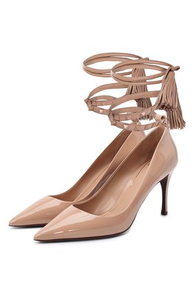 Женские кожаные туфли rockstud VALENTINO бежевого цвета, арт. UW2S0Z08/IXH | Фото 1