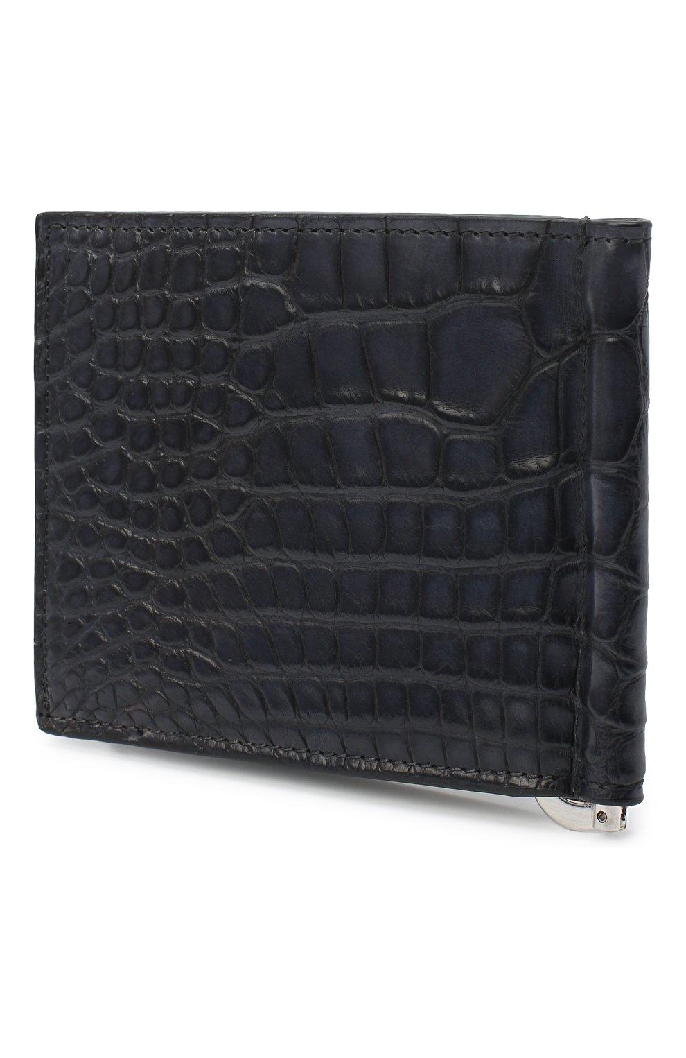 Мужской зажим для денег из кожи аллигатора BRIONI серого цвета, арт. 0HSG0L/09718/AMIS | Фото 2