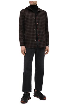 Мужская кашемировая рубашка KITON коричневого цвета, арт. UMCPETEK01L1409 | Фото 2