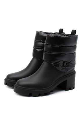 Женские кожаные ботильоны MONCLER черного цвета, арт. F2-09B-4F707-00-02SE7 | Фото 1