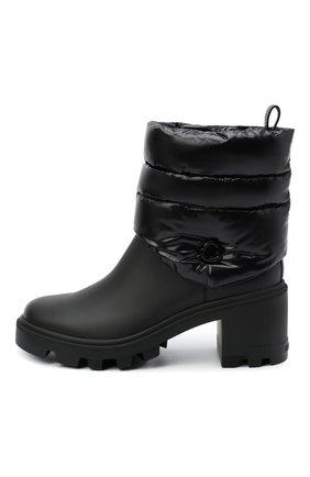 Женские кожаные ботильоны MONCLER черного цвета, арт. F2-09B-4F707-00-02SE7   Фото 3