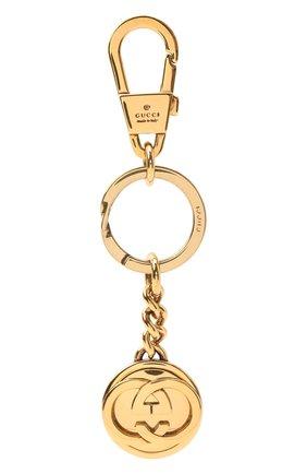 Мужской брелок GUCCI золотого цвета, арт. 625610/J160T | Фото 1