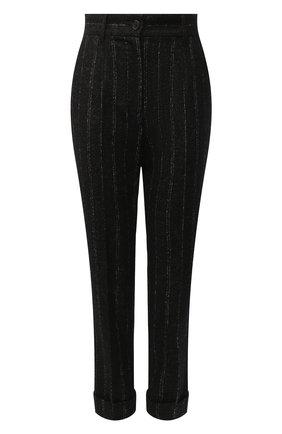 Женские брюки из шерсти и хлопка DOLCE & GABBANA черного цвета, арт. FTAY0T/FRMDW | Фото 1