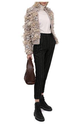 Женские брюки из шерсти и хлопка DOLCE & GABBANA черного цвета, арт. FTAY0T/FRMDW | Фото 2