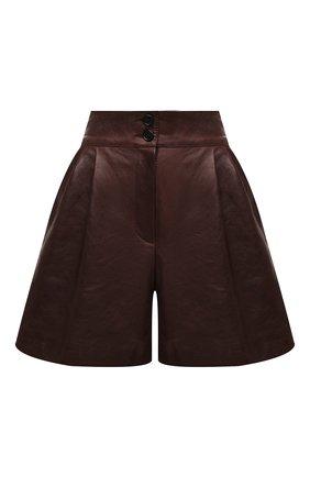 Женские кожаные шорты DOLCE & GABBANA темно-коричневого цвета, арт. FTBYCL/HULKF | Фото 1