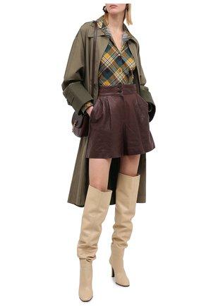 Женские кожаные шорты DOLCE & GABBANA темно-коричневого цвета, арт. FTBYCL/HULKF | Фото 2