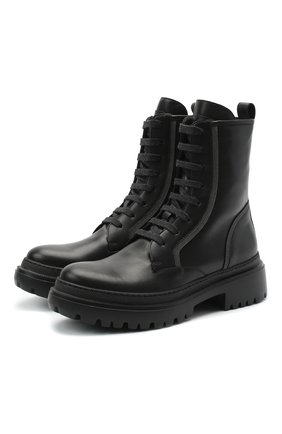 Женские кожаные ботинки BRUNELLO CUCINELLI черного цвета, арт. MZBSG1914 | Фото 1