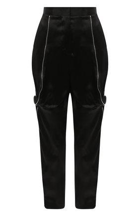 Женские шелковые брюки GIORGIO ARMANI черного цвета, арт. 0SHPP0CF/T01IE | Фото 1