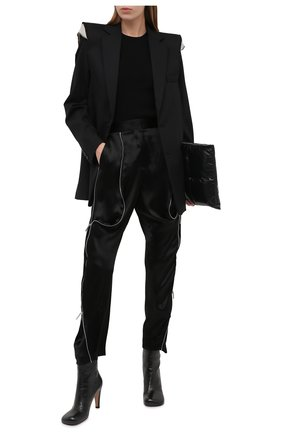 Женские шелковые брюки GIORGIO ARMANI черного цвета, арт. 0SHPP0CF/T01IE | Фото 2