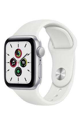 Смарт-часы Apple Watch SE GPS 40mm Silver Aluminium Case with White Sport Band | Фото №1
