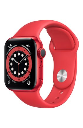 Смарт-часы apple watch series 6 gps 40mm product(red) aluminium case with product(red) sport band APPLE  (product)red цвета, арт. M00A3RU/A | Фото 1