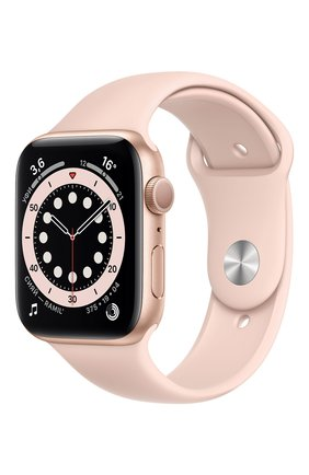 Смарт-часы apple watch series 6 gps 44mm gold aluminium case with pink sand sport band APPLE  gold цвета, арт. M00E3RU/A | Фото 1