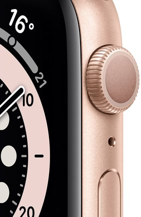 Смарт-часы apple watch series 6 gps 44mm gold aluminium case with pink sand sport band APPLE  gold цвета, арт. M00E3RU/A | Фото 2