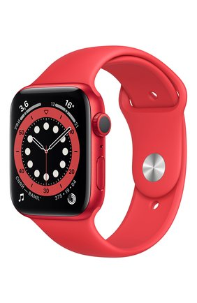Смарт-часы apple watch series 6 gps 44mm product(red) aluminium case with product(red) sport band APPLE  (product)red цвета, арт. M00M3RU/A | Фото 1
