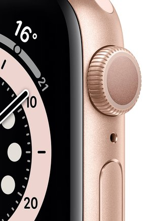 Смарт-часы apple watch series 6 gps 40mm gold aluminium case with pink sand sport band APPLE  gold цвета, арт. MG123RU/A | Фото 2