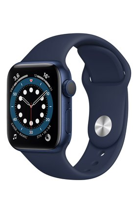 Смарт-часы apple watch series 6 gps 40mm blue aluminium case with deep navy sport band APPLE  blue цвета, арт. MG143RU/A | Фото 1