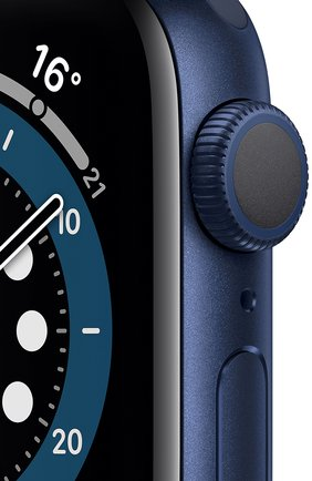 Смарт-часы apple watch series 6 gps 40mm blue aluminium case with deep navy sport band APPLE  blue цвета, арт. MG143RU/A | Фото 2