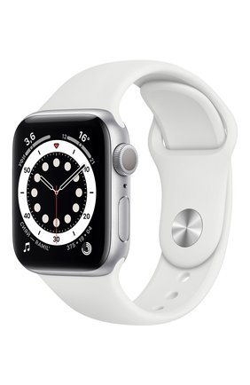 Смарт-часы apple watch series 6 gps 40mm silver aluminium case with white sport band APPLE  silver цвета, арт. MG283RU/A | Фото 1