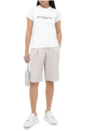 Женская хлопковая футболка GIVENCHY белого цвета, арт. BW708H3Z0Y   Фото 2
