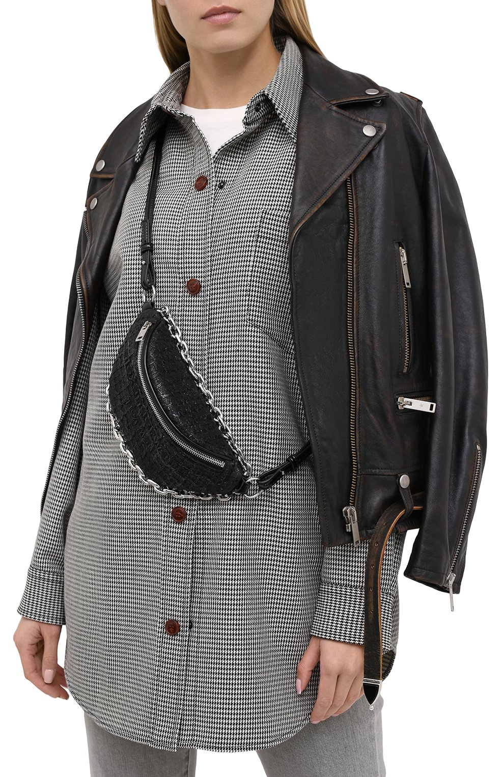 Женская поясная сумка attica ALEXANDER WANG черного цвета, арт. 20C220F135 | Фото 2