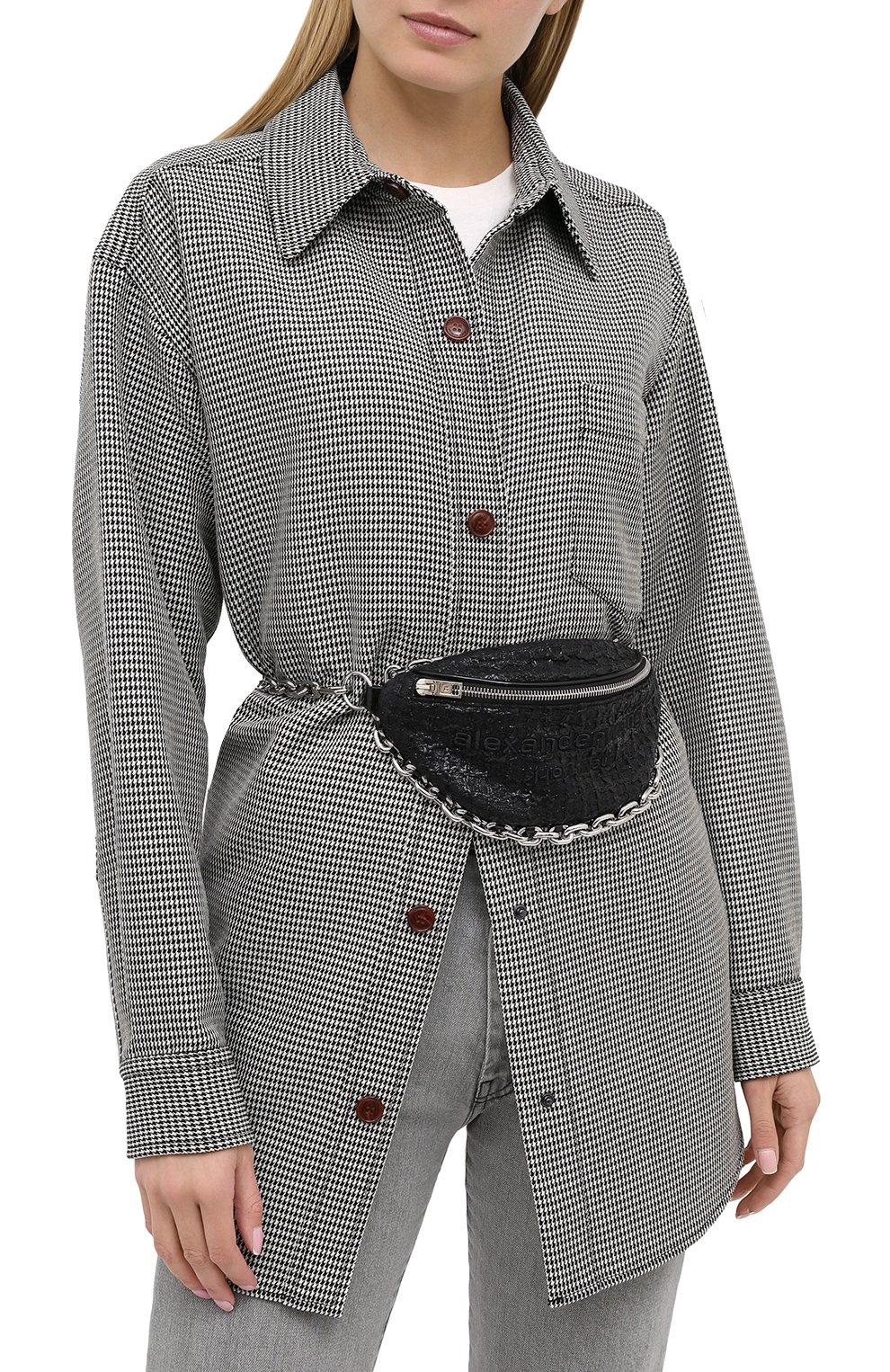 Женская поясная сумка attica ALEXANDER WANG черного цвета, арт. 20C220F135 | Фото 5