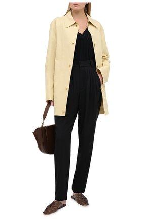 Женские шерстяные брюки ALESSANDRA RICH черного цвета, арт. FAB2228-F2333 | Фото 2