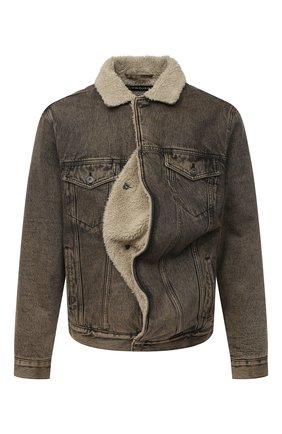 Мужская джинсовая куртка Y/PROJECT бежевого цвета, арт. JACK66-S19 D06 | Фото 1