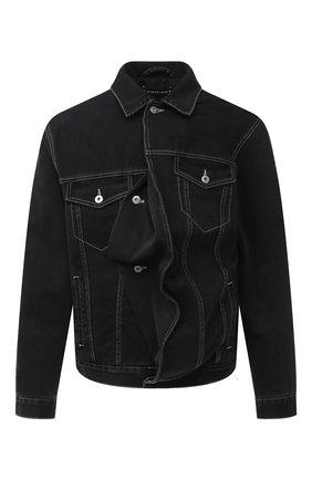 Мужская джинсовая куртка Y/PROJECT черного цвета, арт. JACK66-S19 D06 | Фото 1