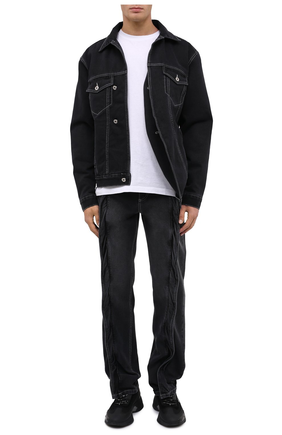 Мужская джинсовая куртка Y/PROJECT черного цвета, арт. JACK66-S19 D06 | Фото 2