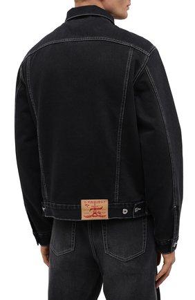Мужская джинсовая куртка Y/PROJECT черного цвета, арт. JACK66-S19 D06 | Фото 4