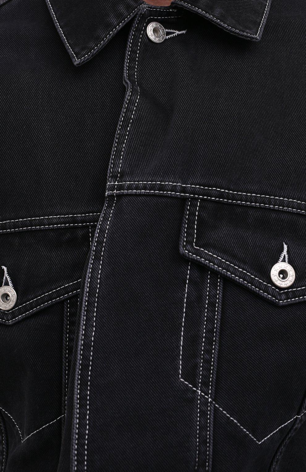 Мужская джинсовая куртка Y/PROJECT черного цвета, арт. JACK66-S19 D06 | Фото 5