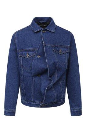 Мужская джинсовая куртка Y/PROJECT темно-синего цвета, арт. JACK66-S19 D06 | Фото 1