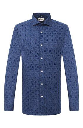 Мужская хлопковая рубашка LUIGI BORRELLI синего цвета, арт. EV08/NAND0/TS30023 | Фото 1