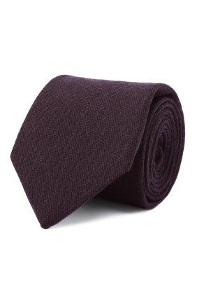 Мужской галстук из кашемира и шерсти LUIGI BORRELLI фиолетового цвета, арт. LC80-R/TT30065 | Фото 1