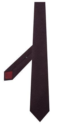 Мужской галстук из кашемира и шерсти LUIGI BORRELLI фиолетового цвета, арт. LC80-R/TT30065 | Фото 2