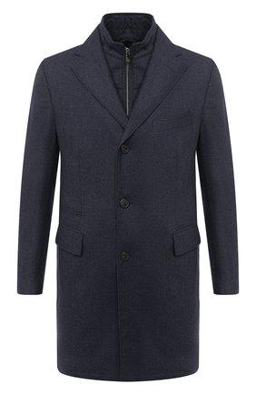 Мужской шерстяное пальто CORNELIANI синего цвета, арт. 861590-0812400/00 | Фото 1