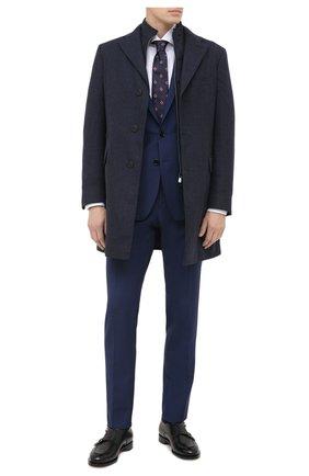 Мужской шерстяное пальто CORNELIANI синего цвета, арт. 861590-0812400/00 | Фото 2