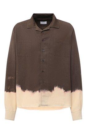 Мужская рубашка из вискозы RHUDE хаки цвета, арт. RHU08PF20077 | Фото 1