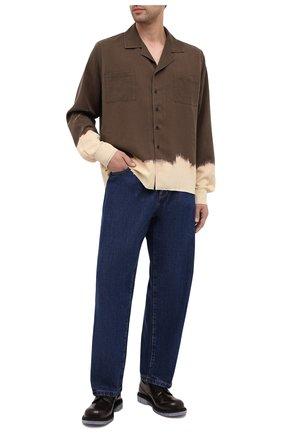 Мужская рубашка из вискозы RHUDE хаки цвета, арт. RHU08PF20077 | Фото 2