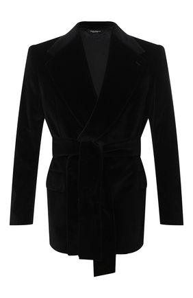 Мужской хлопковый пиджак DOLCE & GABBANA черного цвета, арт. G2PA1T/FUVG7 | Фото 1