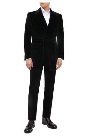 Мужской хлопковый пиджак DOLCE & GABBANA черного цвета, арт. G2PA1T/FUVG7 | Фото 2
